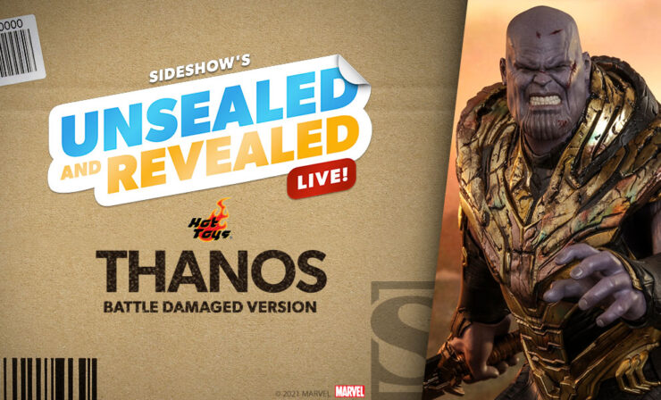 Up Next on Unsealed and Revealed: Thanos (Battle Damaged Version) Sixth Scale Figure by Hot Toys