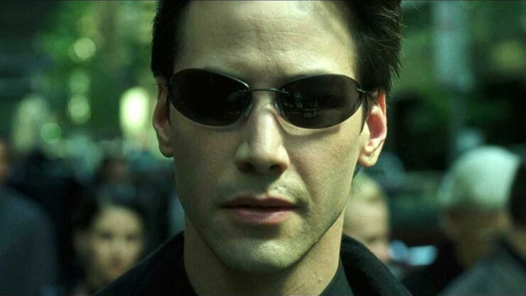 Neo (Keanu Reeves) in The Matrix