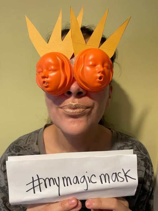 Let Your Geek Sideshow Facebook Group member Tiffany R.'s Magic Mask Giveaway entry