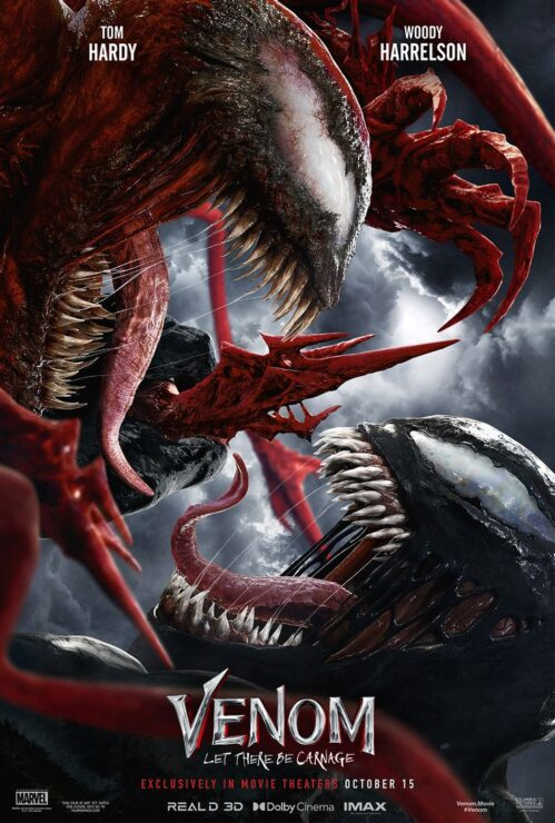 Venom and Carnage Fighting with Tongues Out