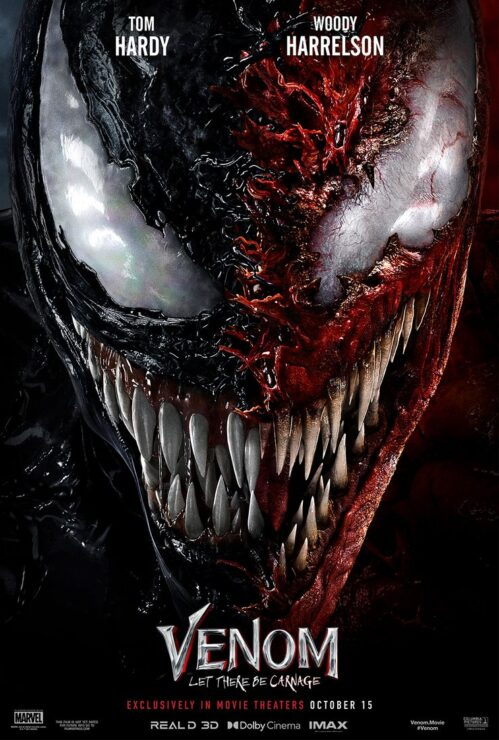 Venom and Carnage Faces Stitched Together