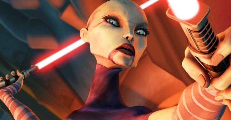 Asajj Ventress in Star Wars The Clone Wars