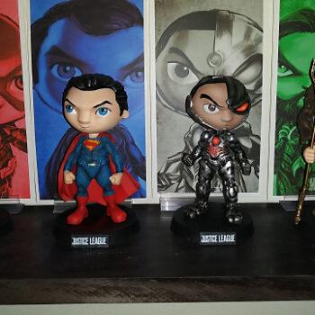 The Flash, Superman, Cyborg, and Aquaman Vinyl Collectibles