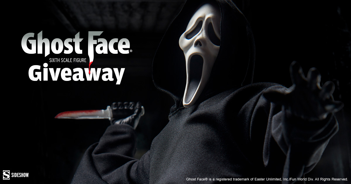 Ghost Face Sixth Scale Figure Newsletter Giveaway