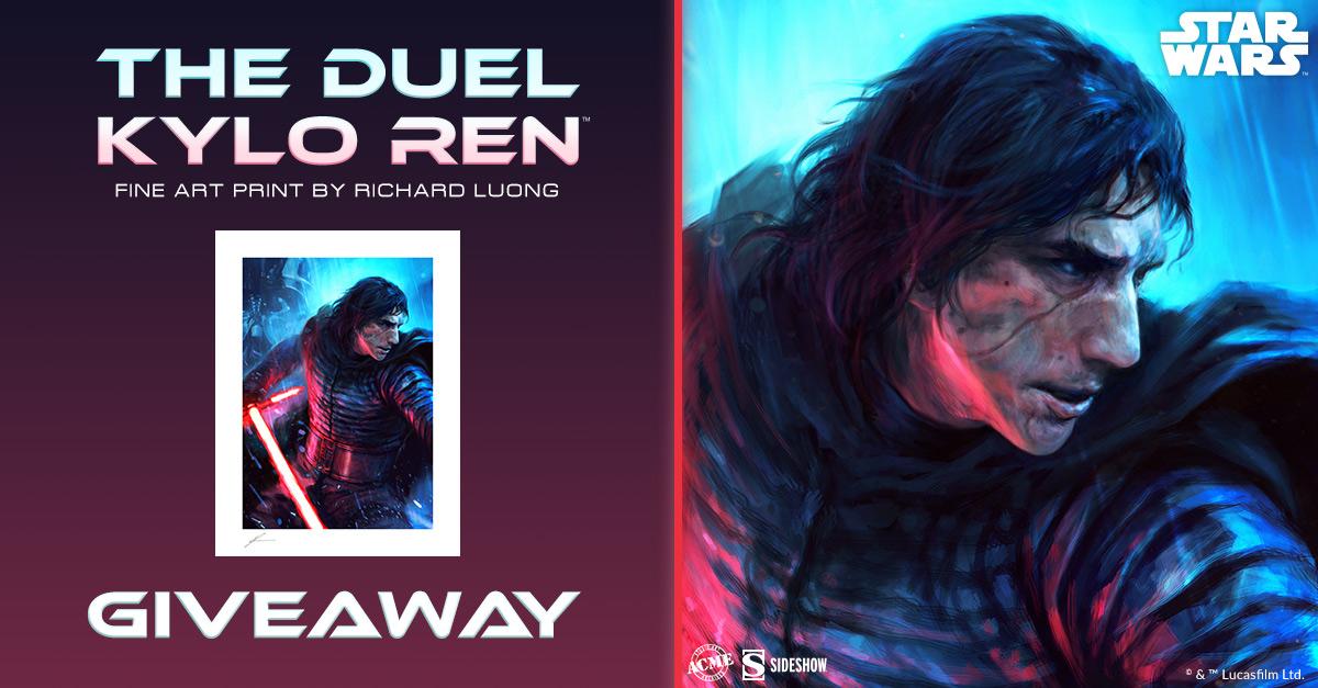The Duel: Kylo Ren Fine Art Print Giveaway