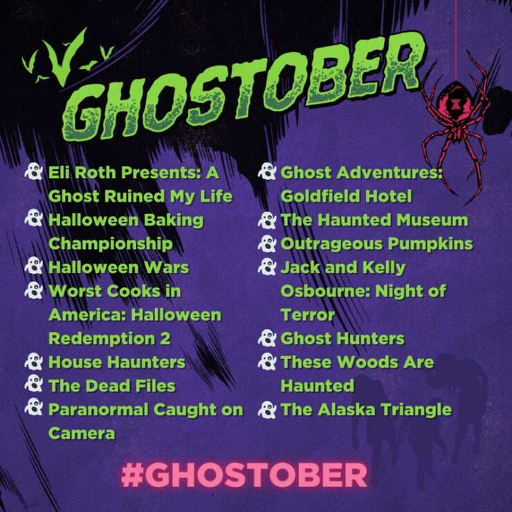 Discovery+ will showcase spooky seasonal content with its streaming event Ghostober