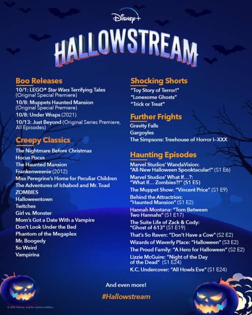 Disney+ will showcase seasonal spooky content with Hallowstream 2021
