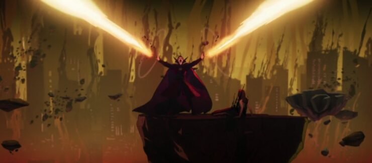 In episode 4 of Marvel's What If...?, the results of Doctor Strange's corruption of time are catastrophic for his entire universe