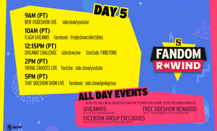 Fandom Rewind Day 5 Schedule