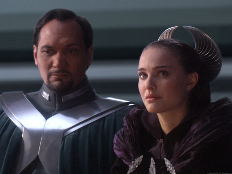 Bail Organa and Padme Amidala in Revenge of the Sith