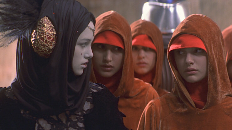 Sabe and Padme in Star Wars The Phantom Menace