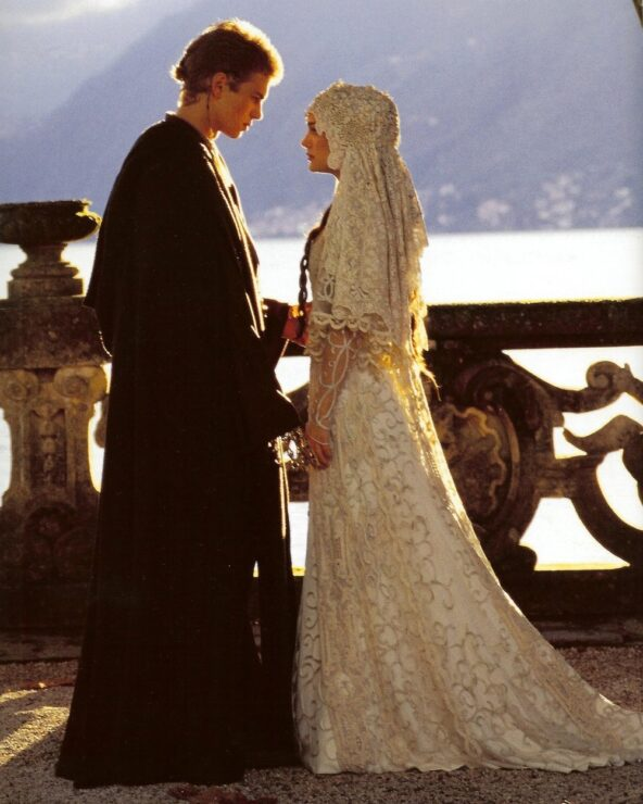 Padme and Anakin marry on Naboo in Star Wars Attack of the Clones
