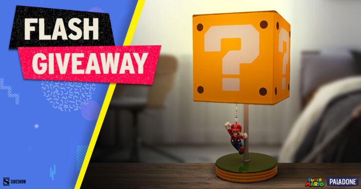 Sideshow Fandom Rewind Flash Giveaway - Super Mario Question Block Lamp by Paladone
