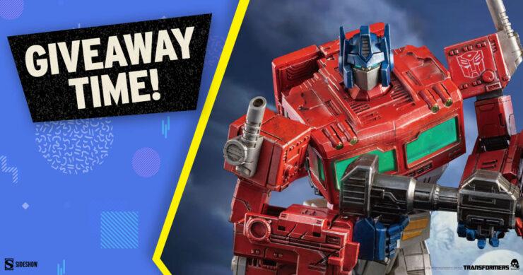 Sideshow Fandom Rewind Grand Prize Giveaway - Optimus Prime DLX Collectible Figure by Threezero