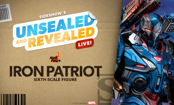 Up Next on Unsealed and Revealed: Iron Patriot Sixth Scale Figure by Hot Toys