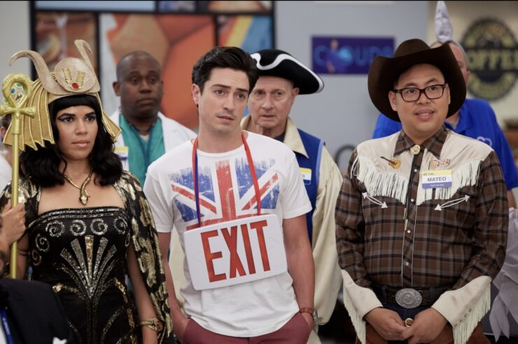 In the Halloween episode of Superstore, costumes and the spooky spirit take center stage