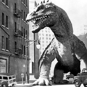 The Beast from 20,000 Fathoms is an American film from 1953 in which a dinosaur is awakened by an atomic bomb test