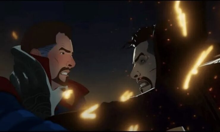 In episode 4 of Marvel's What If...?, Doctor Strange contends with a parallel timeline version of himself as they struggle with the effects of time control