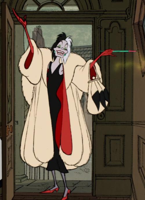 Cruella De Vil in Disney's 101 Dalmations