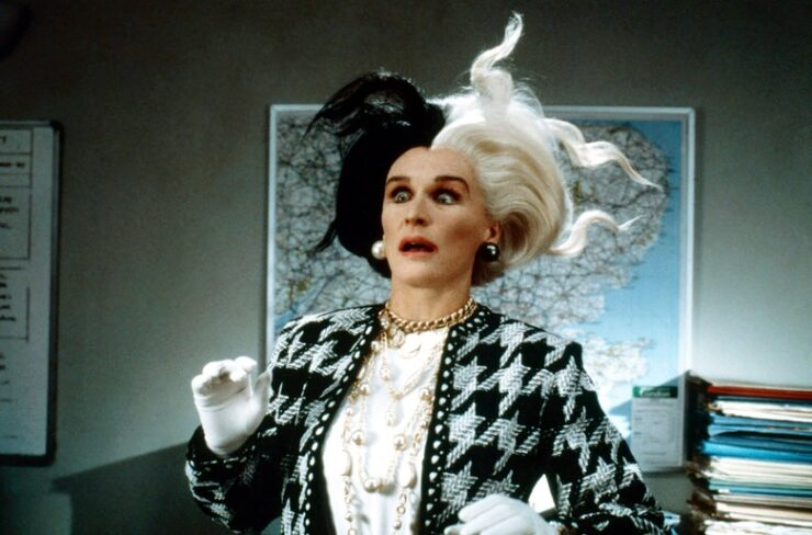 Cruella is a mess in the live action 101 Dalmatians