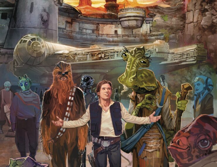 Star Wars: Galaxy's Edge Marvel Comic Cover by Rod Reis