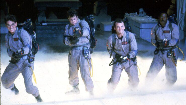 Egon Spengler, Peter Venkman, Ray Stantz, and Winston Zeddemore in Ghostbusters