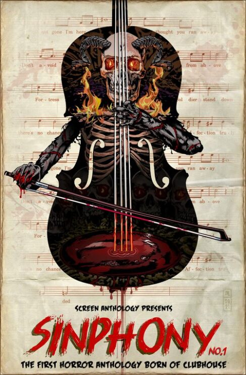 Sinphony Anthology Movie Poster with Skull Violin