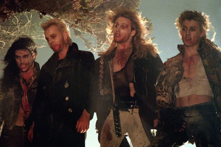 bloodied vampires in The Lost Boys