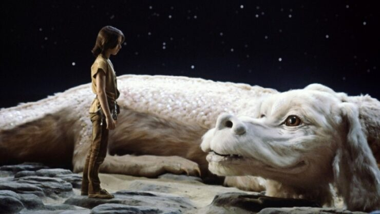 Atreyu and Falkor in The Neverending Story