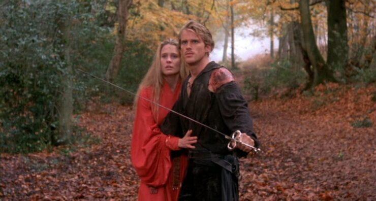 Westley defends Princess Buttercup in The Princess Bride