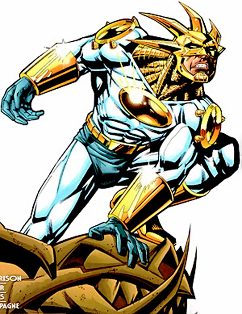 Aztek is the solar-powered representative of Quetzalcoatl, the Aztec god of wind and the sun