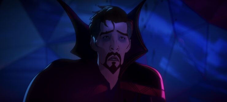 Doctor Strange, in his quest to save Christine Palmer from death, destroys his universe in episode 4 of Marvel's What If...?