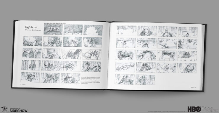 Game of Thrones Winter is Coming storyboard art