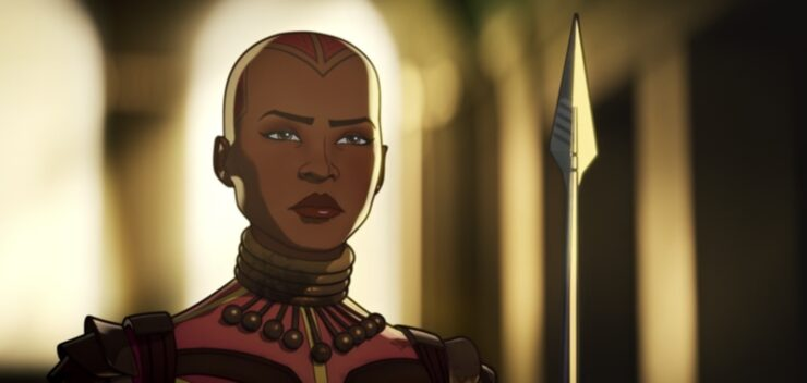 Okoye of the Dora Milaje is an invaluable ally and unexpected source of humor in episode 5 of Marvel's What If...?