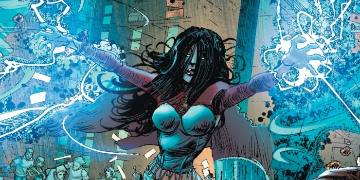 Sarah Rainmaker is an Apache metahuman who can manipulate the weather with her mind