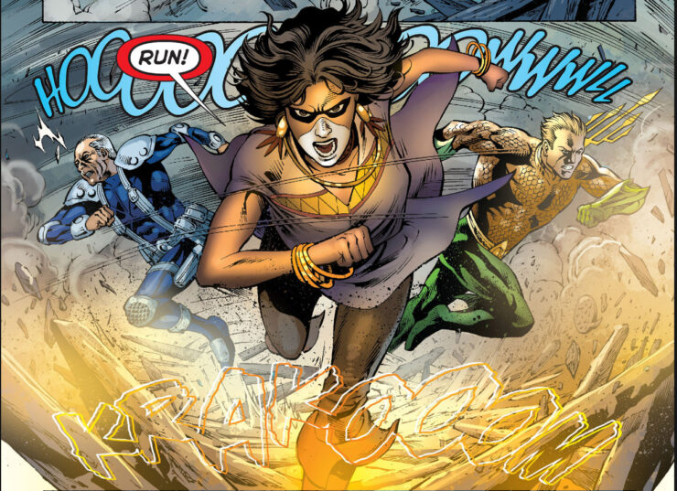 Sky Alchesay is an Apache necromancer who joins Aquaman's team called the Others