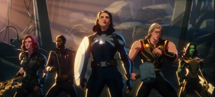 The Guardians of the Multiverse came together, across space and time, to restore peace and order to every universe in Marvel's What If...? season 1 finale