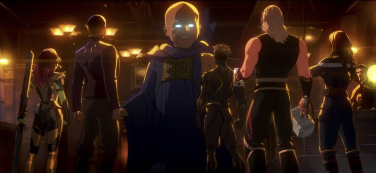 In the season1 finale of Marvel's What If...?, Uatu the Watcher gathers a team of heroes he calls the Guardians of the Multiverse